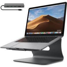 Giá Đỡ Máy Tính Xách Tay Làm Mát Bằng Nhôm Bestand Cấu Hình 3 Cổng USB3.0 Thẻ SD/TF 5 Cổng