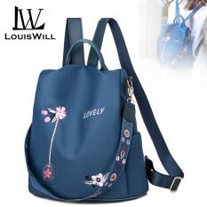 LouisWill Women Backpack Korean School Backpacks Fashionable Ladies Backpack Casual Simple Student Bags Laptop Backpacks Lightweight Anti-theft Backpacks