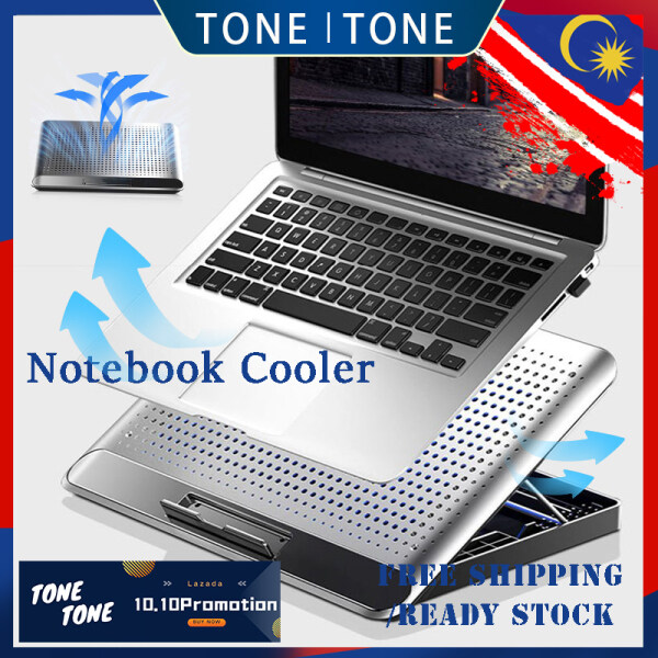 TONE TONE Notebook Cooler with Low Noise Fan Design ,Aluminum Alloy Heat Sink Laptop Stand/Holder Portable Foldable Malaysia
