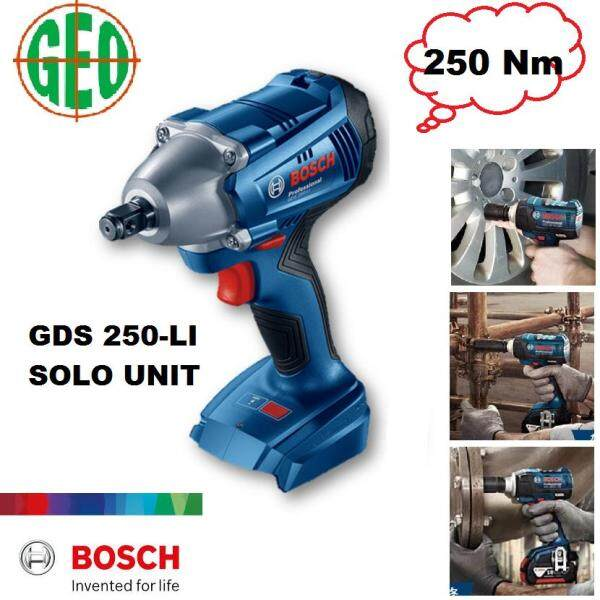 BOSCH 18V GDS 250-LI SOLO 1/2  CORDLESS IMPACT WRENCH 18V (NO BATTERY & NO CHARGER) [ GEOLASER ]