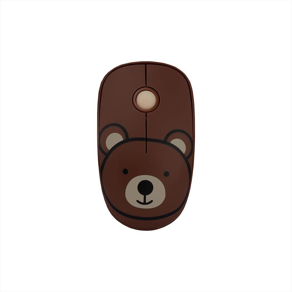 FD E680 2.4G Wireless Mouse Super Cute Cartoon Style ABS Silent Clicks Ergonomic Mute Mice With Mouse Mat Low Power Consumption Blue Malaysia