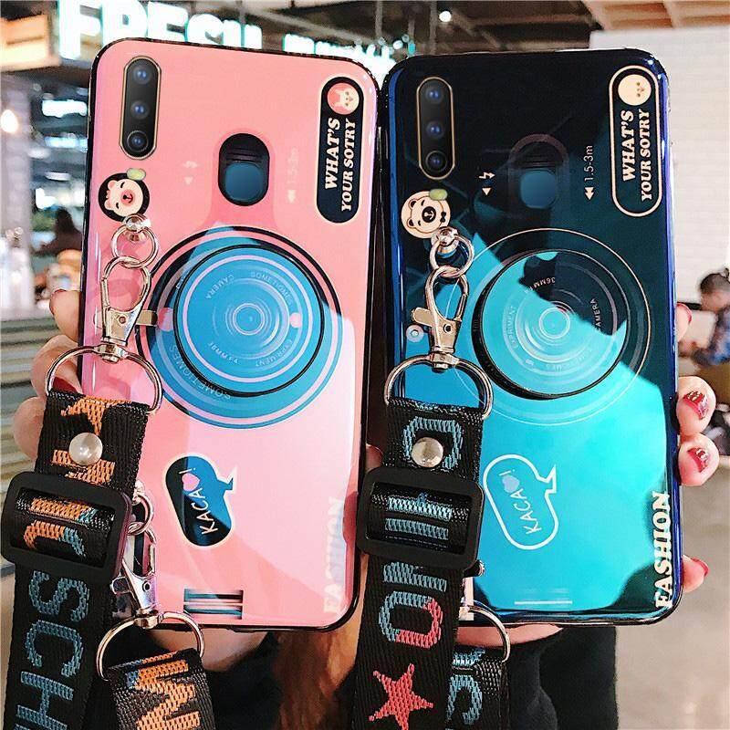 Giá [[Dây + Giá Đỡ] Tia Xanh 3D Camera Dành Cho VIVO Y12 Y15 Y17 Trường Hợp Silicone Mềm TPU Bao ốp điện thoại
