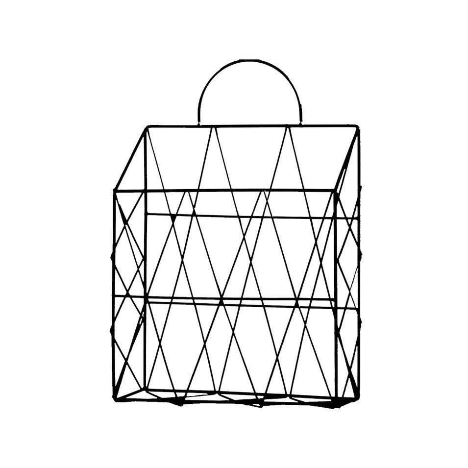 Hot Sales Iron Simple Newspaper And Debris Decoration Finishing Storage Basket