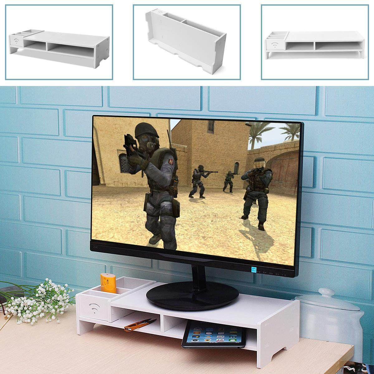 488x205x100mm Home Office WPC Desk PC Computer Monitor LCD TV Stand Riser Keyboard Shelf Rack