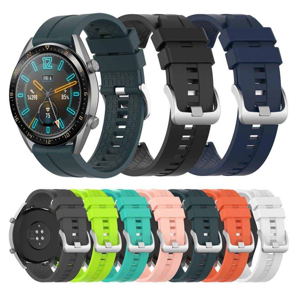 1* New Soft Wristband Sports Bracelet Watch Band Silicone 22mm Strap Malaysia