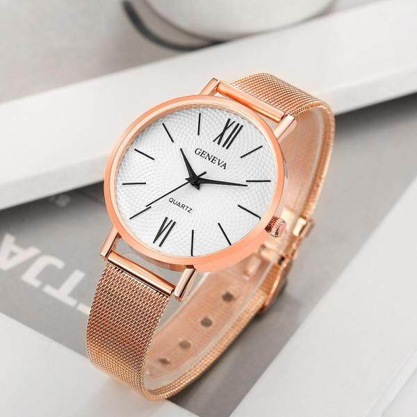 [FAST SHIPPING][LOCAL SELLER] 100% New Brand Womens Watch Fashion Mesh Strap Stainless Steel Jam Tan Malaysia