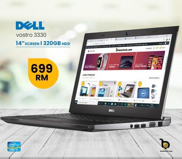 Dell Vostro 3330,  13.3 Business Notebook / Intel Core i3-Processor /  Windows 10 , 64-bit / 4GB DDR3 RAM / 320GB  Hard Drive Malaysia