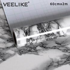 Giấy Dán Tường Veelike 60cmX200cm, Tấm Dán Tường Chống Nước Tự Dính Làm Từ Nhựa Vinyl PVC Vân Đá Hoa Cho Nhà Tắm Nhà Bếp Tủ Chén Mặt Bàn