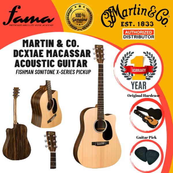 [FAMA][READY STOCK]Martin & Co. DCX1AE Macassar Acoustic Guitar (FISHMAN SONITONE X-SERIES PICKUP) Malaysia