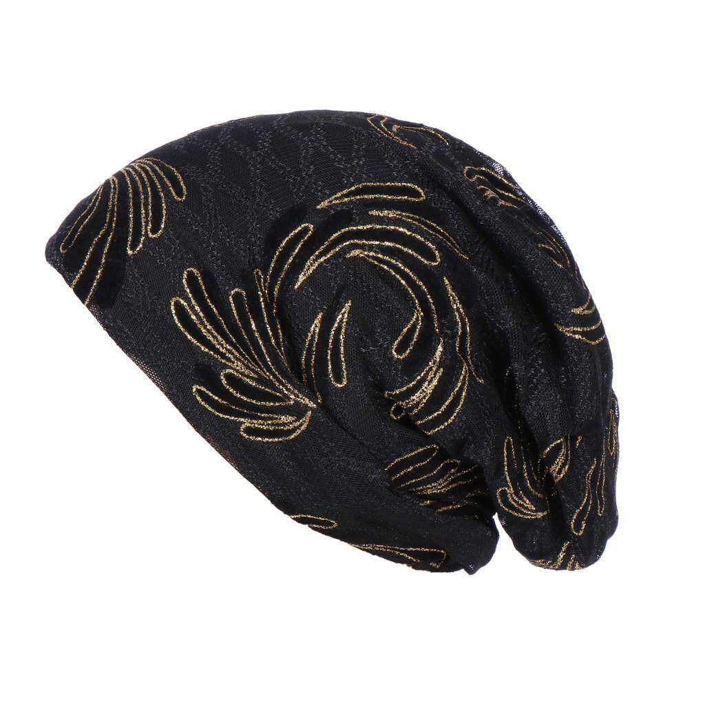Black Floral Laced plain Scarf Hijab