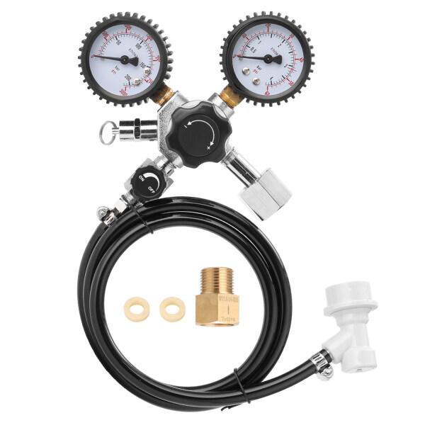 KKmoon Beer CO2 Keg Regulator Safety Pressure Relief Valve 0-3000 PSI Tanks Pressure