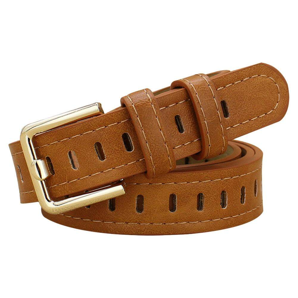 Hollow Decorative Belts for Women Thin Strap Female Fashion Leather Waistband For Jeans
