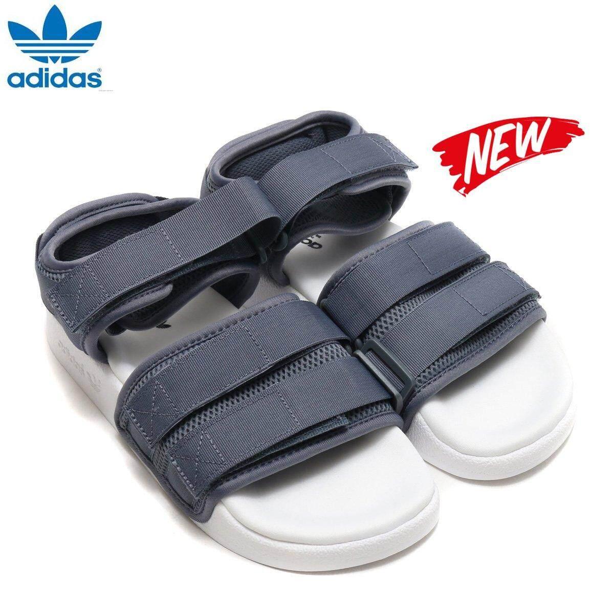 ccaa23945cf0 Adidas Original New Unisex Adilette Sandal CQ2672 Grey White 100% Original