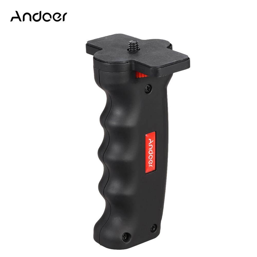 Andoer 1/4 สกรูมินิสากลมือถือขาตั้งกล้อง Monopod จับจับ S Tabilizer H Older สำหรับ Go-Pro So-Ny Xiao-Mi การกระทำกีฬาเวบกล้องดิจิตอลกล้องวีดีโอ.