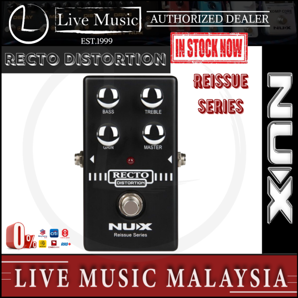 Nux Recto Distortion Effects Pedal Malaysia