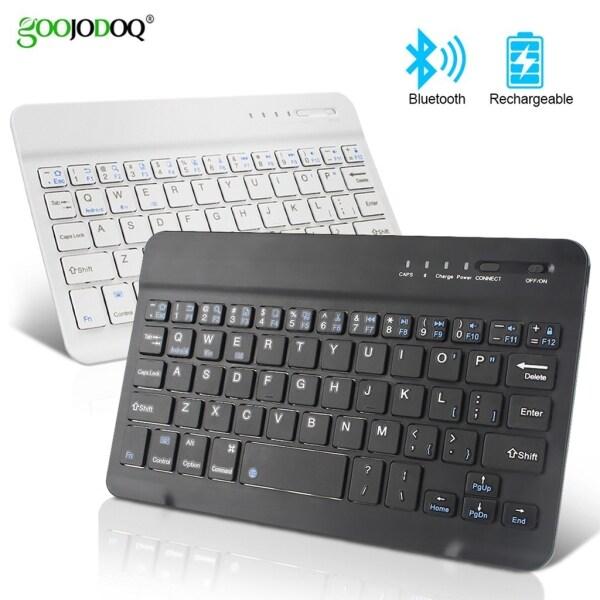 GOOJODOQ For iPad Bluetooth 3.0 Keyboard For IPad Mini IPad 7 Gen 7/9/10 Inch Keyboard ABS Workable Tablets Smart Phones Malaysia