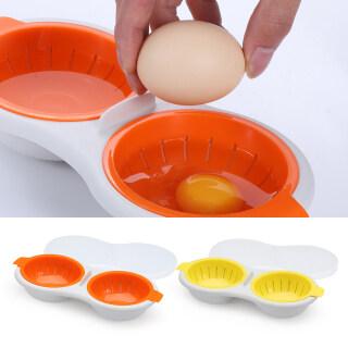 JCZX Bộ Lọc Protein Lòng Đỏ Nhà Bếp, Cốc Đôi Nướng Bánh Tự Làm, Dụng Cụ Tách Nồi Hơi Làm Sạch Trứng Trong Lò Vi Sóng thumbnail