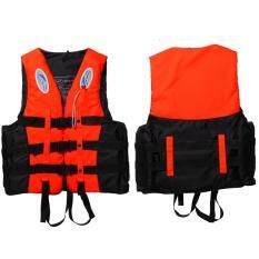 Áo phao cứu sinh cho người lớn bằng vải polyester, áo phao trượt tuyết/ chèo thuyền thông dụng kèm còi – INTL