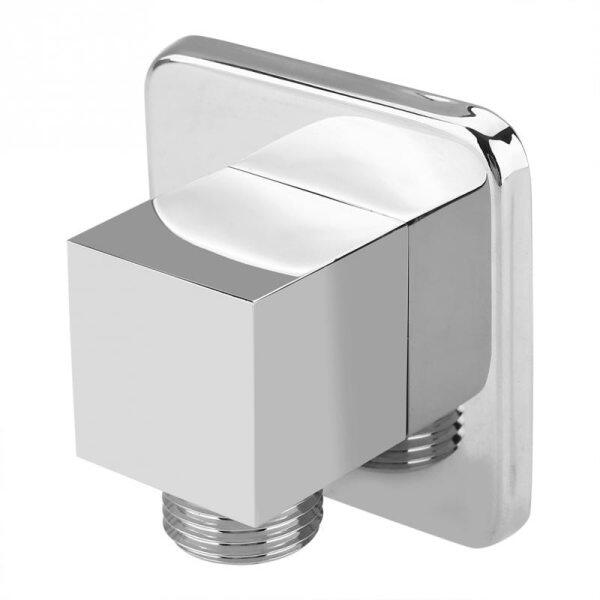 Solid Brass Chrome Finish Square Hand Shower Head Holder Bidet Holder Water Outlet Elbow Angle Valve Wall-Mounted Tools