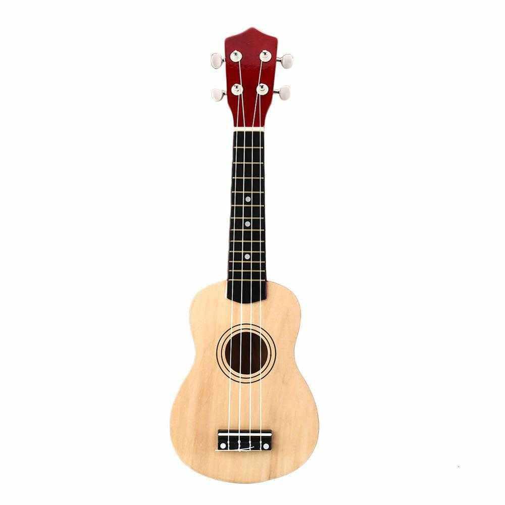 Trắng Mini 21 Inch Soprano Ukulele 12 Giải Tầng Nhạc Cụ Gỗ Hawaii Phong Cách Đàn Guitar 4 Dây Hawaii