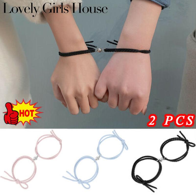 Vòng tay đôi nam châm vòng tay tình bạn thích hợp làm quà tặng cặp đôi Lovely Girls House
