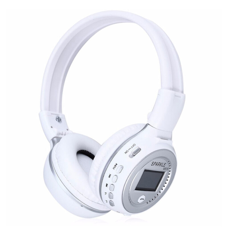 niceEshop Head-Mounted Bluetooth Headset Retractable Folding Built-In High-Definition Microphone Insertable TF Card FM Radio Singapore