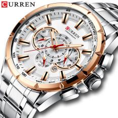 Đồng hồ nam cao cấp thời trang mặt kính thạch anh chống nước chống va đập CURREN