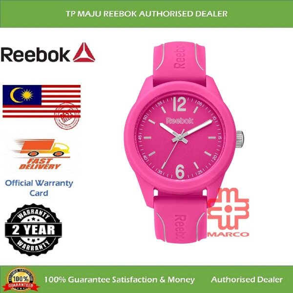 REEBOK RF-SDS Spindrop Speed Female Analog 3-Hand Ladies Sport Watch Pink Silicone Band 50M WR for Women RF-SDS-L2-PPIP-P1 (2 YEARS WARRANTY) Malaysia