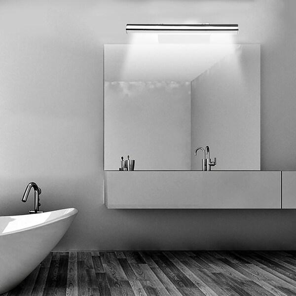 Lemonbest Đèn LED Gắn Tường 5W Đèn Tủ Phòng Tắm Đèn Tường Trắng/Ấm Gương Trang Điểm Đèn Tường Đèn Bàn Trang Điểm Gương Inox Có Công Tắc, Thiết Bị Đèn Tường Phòng Tắm Đầu Giường Cho Phòng Ngủ