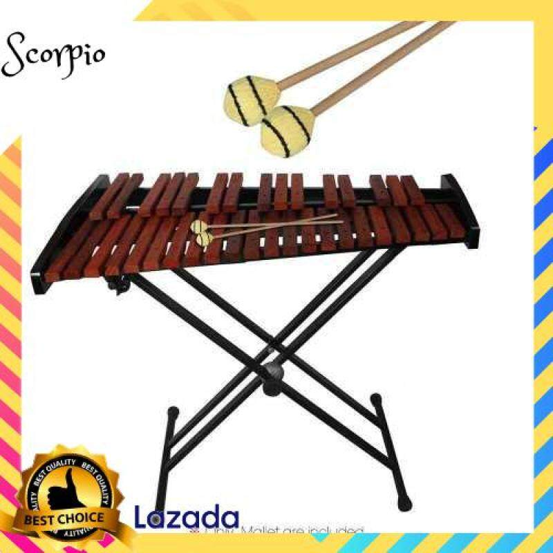 BEST SELLER Marimba Stick Mallets Xylophone Glockensplel Mallet with Beech Handle Percussion Instrument Accessories for Professionals Amateurs 1 Pair (Wood Color) Malaysia