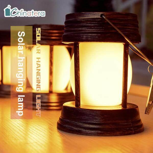 [Chinatera] Đèn LED Năng Lượng Mặt Trời, Đèn Lồng Hoài Cổ Đèn Treo Dầu Hỏa Ngoài Trời Không Thấm Nước, Trang Trí Nhà Vườn Cổ Điển