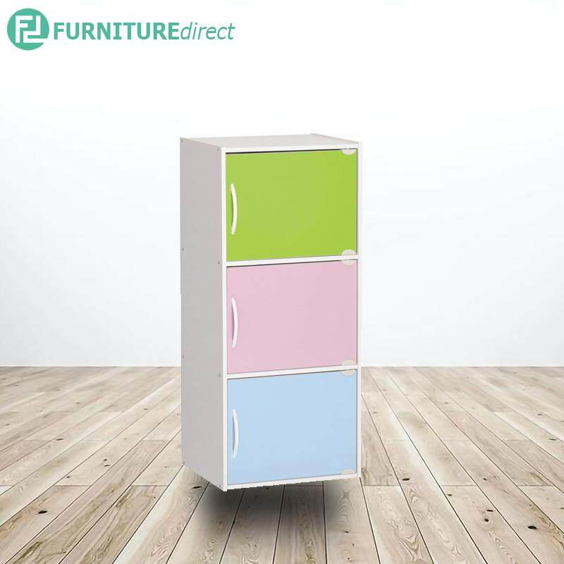 Furniture Direct Bray 4 Door Bookcase Cabinet With 3 Sizes
