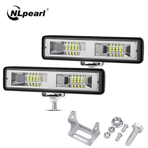 Thanh Đèn LED 12V 24V Thanh Đèn LED 4X4 Đường Địa Hình Đèn Làm Việc 48W Cho Xe Tải Jeep Xe Hơi Thuyền Máy Kéo Xe Moóc SUV ATV Đèn Pha