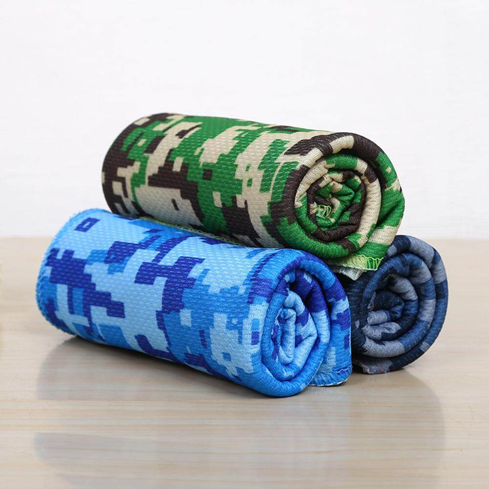 Portable Sweat Absorb Lightweight Cooling Summer Washable Printing Sport Towels