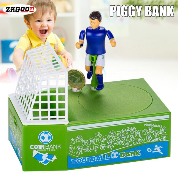 zkgood Soccer Shooting Coin Bank Football Money Saving Piggy Bank Gift for Kids Children