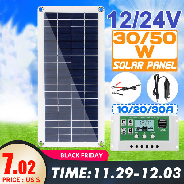 High Efficiency Solar Panel  Charger for RV Caravan Boats Home Motor -