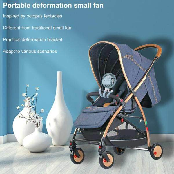 Mini Hand-held Stroller Fan USB or Battery Powered Adjustable 3 Speeds Portable Car Seat Baby Fan with Flexible Tripod Desk Fan Singapore