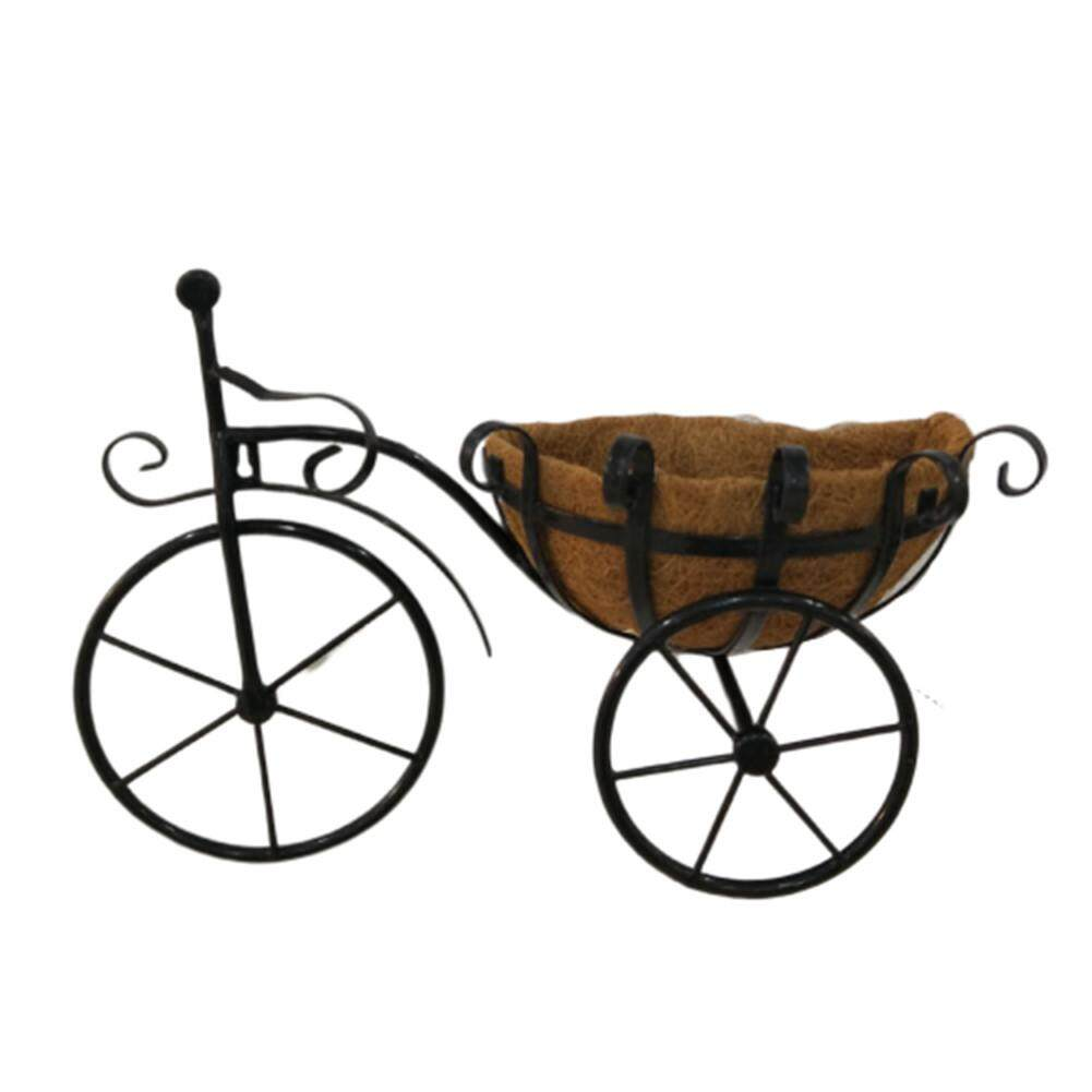 Tricycle Plant Stand Flower Pot Cart Holder Coco Liner Basket Wall Decoration for Home Garden Patio