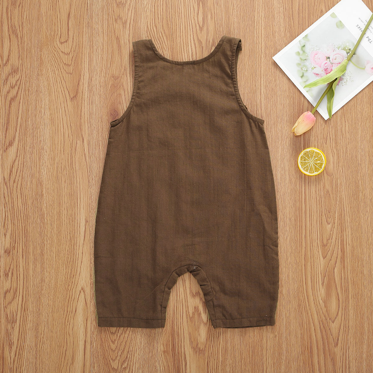 GI Solid Color Infant Baby Boys Girls Sleeveless Cotton Summer Romper Jumpsuit