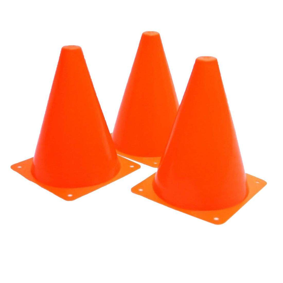 Plastic Traffic Cones - 12 Pack Of Multipurpose Construction Theme Party Sports Activity Cones For Kids Outdoor And Indoor Gaming And Festive Events By Ralleya.