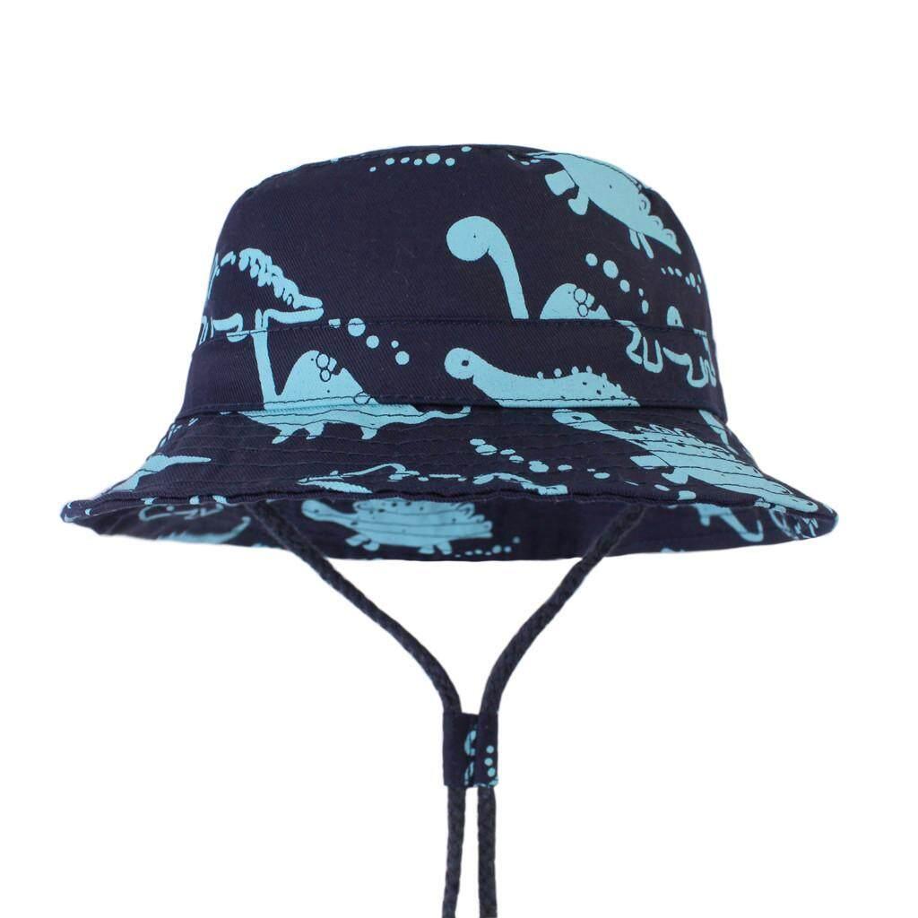 MoKiEShop Lovely and comfortable fashion Kid Baby Boy Girl Cartoon Beach  Adjustable Chin Strap Sun Protection Bucket Hat