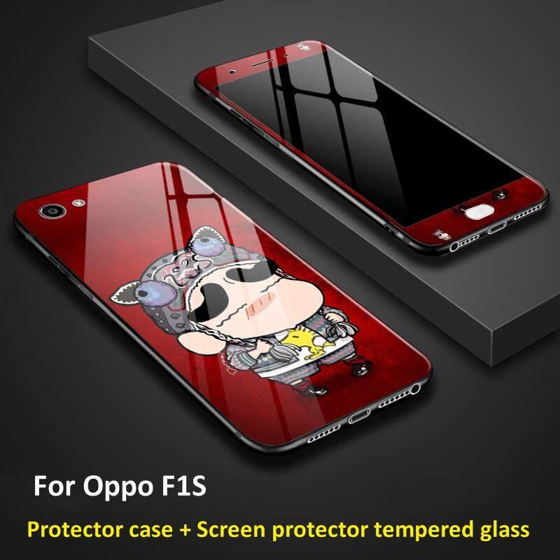 Mewah 360 Derajat Mencakup Semua Kaca Casing Ponsel untuk Oppo F1S, Ponsel, Glass Case Cover casing Ponsel untuk Oppo F1s Kembali dan Depan Aksesori Ponsel.