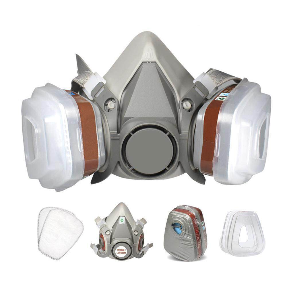 FlyUpward Half Face Dust Respirator Mask with Adjustable Strap,Safety Industrial Filter Dust Mask,with 20Pcs Replaceable Filter Cotton