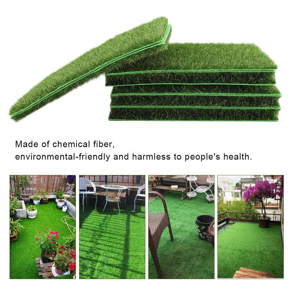 10 PCS Artificial Grass Mat Turf Lawn Garden Micro Landscape Ornament Home Decor