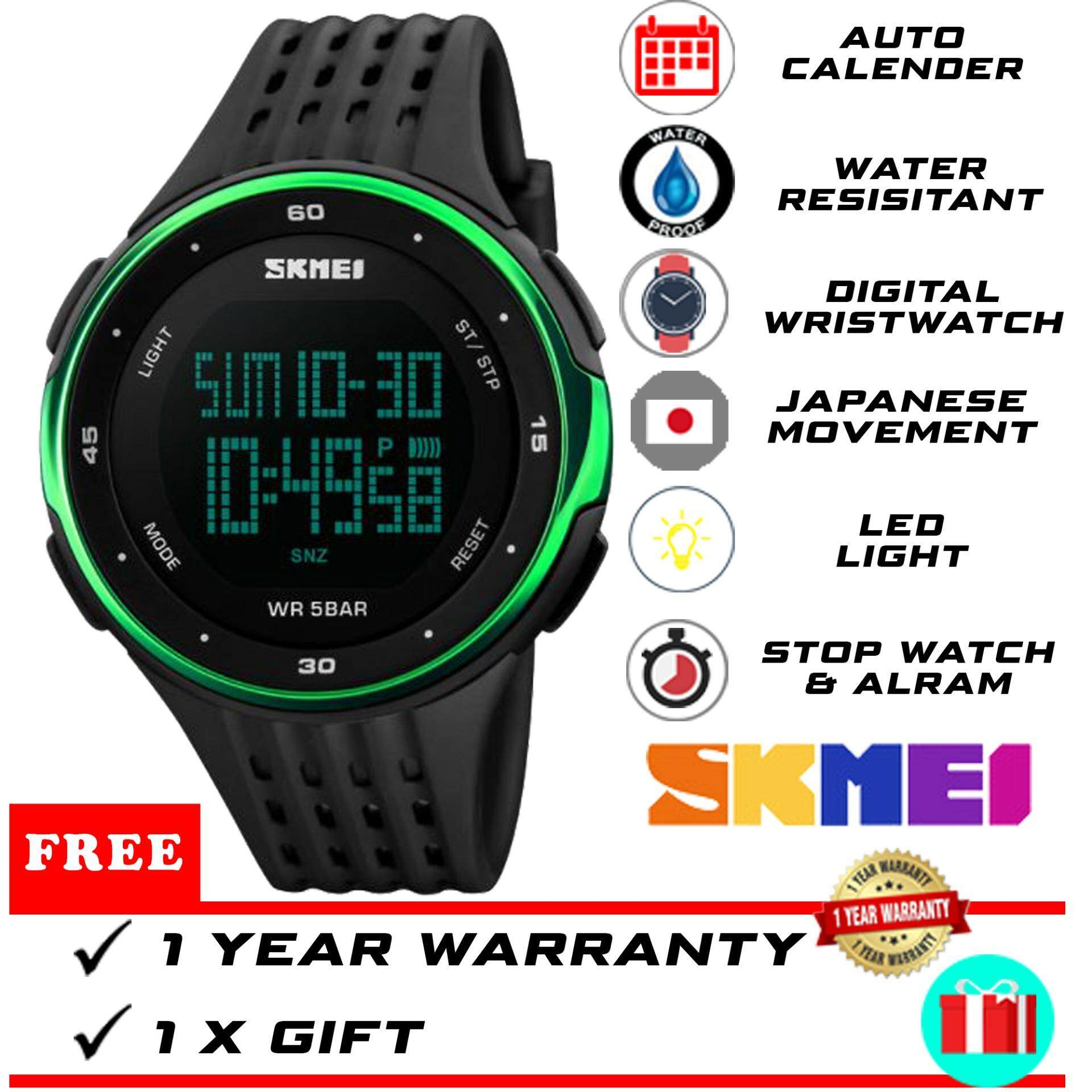 Original SKMEI WTH-309 Unisex Men Women Luxury Brand Dual Time Hybrid Digital Watch Sports Watch Unisex Women Watch Men Watch Malaysia