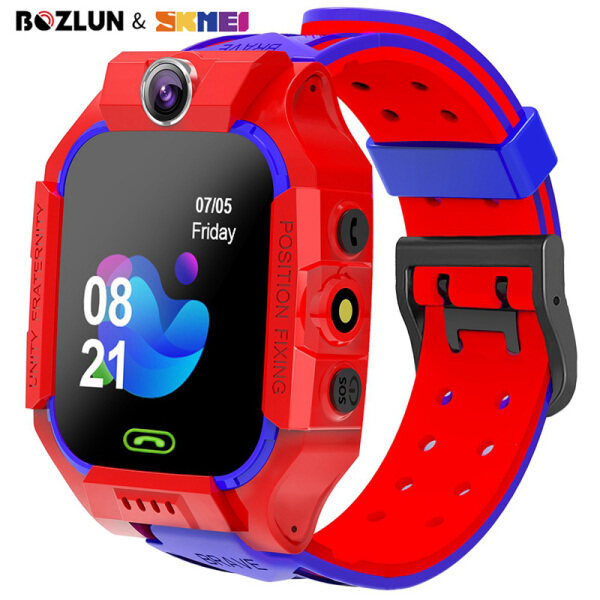 SKMEI BOZLUN New Smart Children Telephone Watch For Kids Call GPS Touch Screen Waterproof Wristwatch for Boys Girls Gifts W39 Malaysia