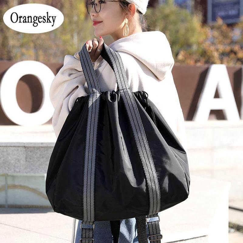 Orangesky Nylon Yoga Mat Bag Gym Fitness Backpack Sports Drawstring Shoulder Handbag For Women By Orangesky.