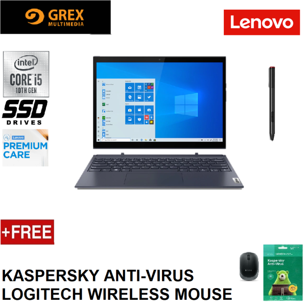 LENOVO YOGA DUET 7 13IML05 82AS0054MJ  / 82AS007KMJ 2-IN-1 (I5-10210U,8GB,256GB SSD,13.3 FHD,UHD GRAPHICS,WIN10) FREE KSPSKY ANTI-VIRUS + LOGITECH WIRELESS MOUSE (7-13IML / 7-13IML05 / DUET7) Malaysia