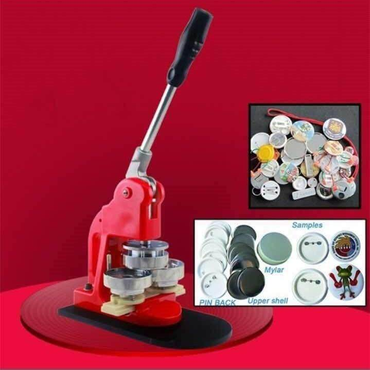 [Ready Stock]Button Badge Maker Button Badge Making Machine for 25mm/32mm/37mm/44mm/50mm/56mm/58mm/58mm Badges DIY Making