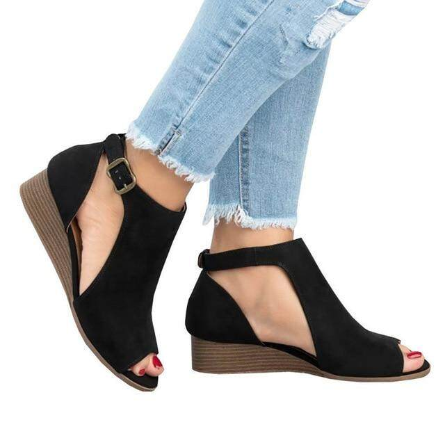 7ac5b6362d Summer Shoes Woman Platform Sandals Women Soft Leather Casual Peep Toe  Gladiator Wedges Women Sandals zapatos